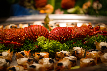 Lobster at the buffet, seafood