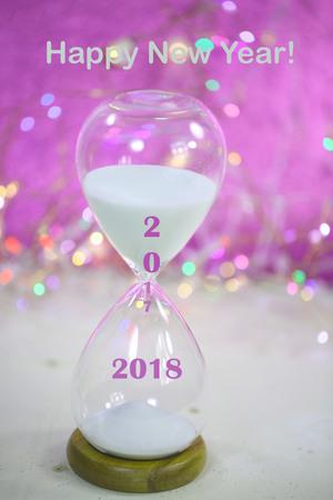 Hourglass, symbolic of New Year,  2018