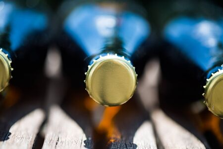 Beer bottles lying on Fathers Day 版權商用圖片