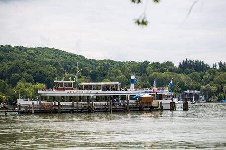 Trip on the Bavarian lakes with the excursion ship, ship, steamer