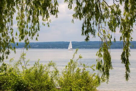 Sailboat on the Ammersee in Bavaria