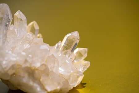 Rock crystal on a gold background
