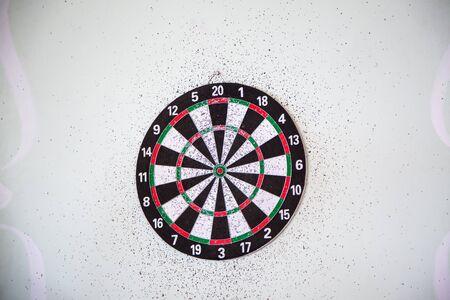 Dartboard, white background