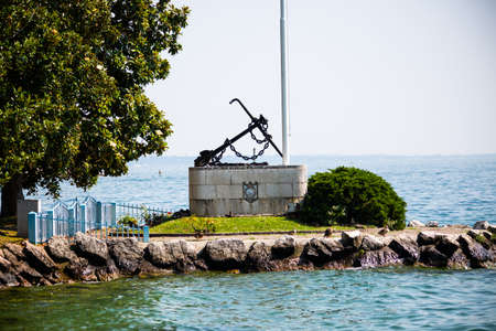 Naval monument in Salo on Lake Garda
