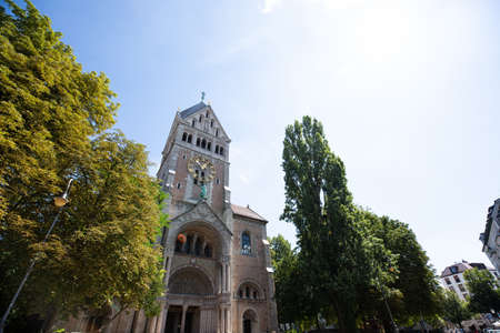 St. Anna Monastery Church in munich, bavaria 版權商用圖片