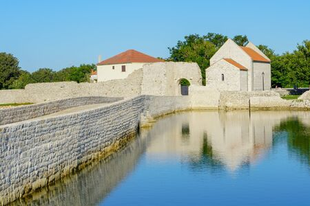 Dalmatian town of Nin, view of the main entrance, Adriatic, Croatia