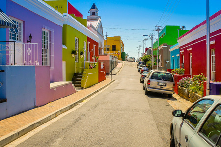 Colorful houses in Bo-kaap south africa
