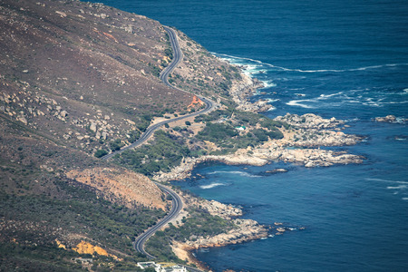 clicked: One of the world s most scenic way Chapman s peak in Cape Town clicked from top of the Table mountains