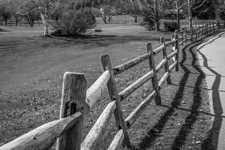 clicked: A wooden fence clicked in Stowe, Vermont