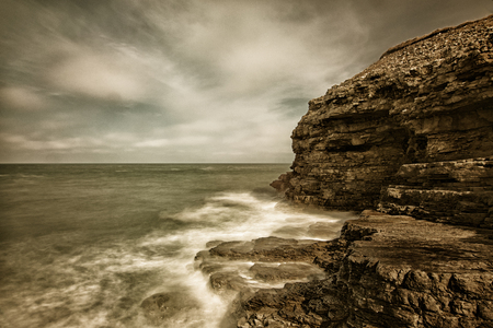 Just before Whitburn the path follows the cliff top around to Marsden Bay around this point is a cove called The Wherry which had its shape defined by natural erosion, quarrying and mining. Part of the bay was known as The Lads and Lasses Wherries (a ligh