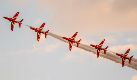 the RAF fast jet display team at sunderland international air show