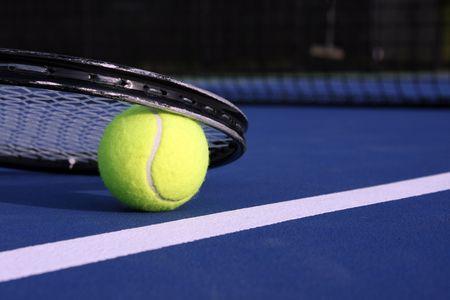 tennis: Balle de tennis et raquettes