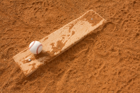 baseball field: Baseball on the Pitchers Mound with room for copy