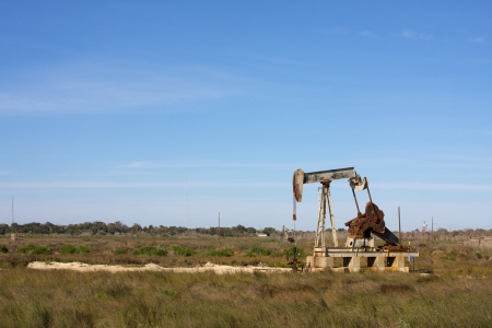 south texas: Oil Pump in the South Texas Countryside