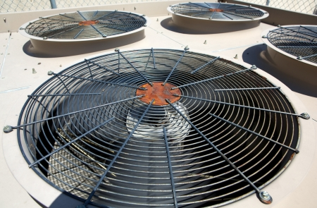 External Air Conditioner Fans for Industrial Background