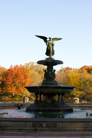 Autumn or Fall at the Bethesda Fountain Central Park New York photo