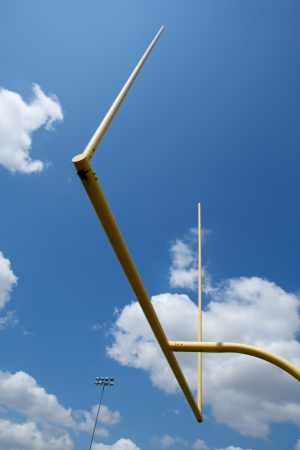 uprights: American Football Goal Posts or Uprights Stock Photo