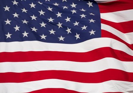 us flag: Rippled US Flag Close Up