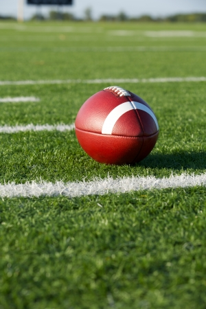American Football on the Field with room for copy photo