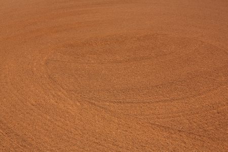 infield: Patterns of the Infield Dirt for Sports Background Stock Photo