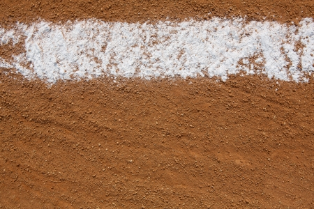 dirt: Baseball Infield Chalk Line with room for copy and for Sports Background Stock Photo