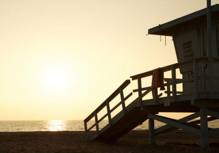 LifeGuard Station at Sunset photo