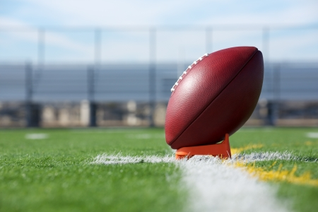 Pro American Football ready for kickoff Stock Photo