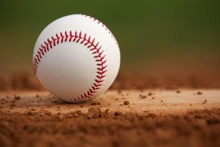 pitchers mound: Baseball on the Pitchers Mound Close Up