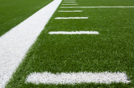 youth football: Yard Lines of a Football Field Horizontal Stock Photo