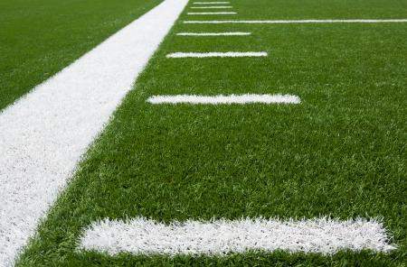 Yard Lines of a Football Field Horizontal Stock Photo