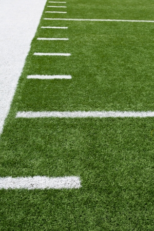 youth football: Yard Lines of a Football Field Vertical Stock Photo