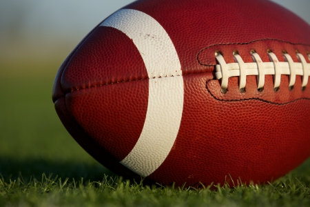 American Football Close Up on the Field Stock Photo