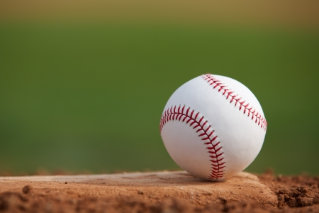 pitchers mound: Baseball Close Up on the Pitchers Mound with room for copy