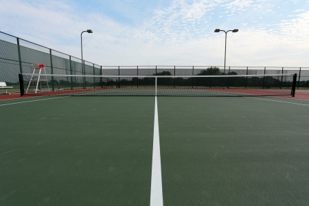 Tennis Court and Net with room for copy