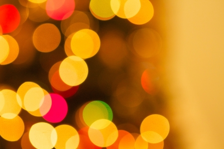 out of focus: Blurred Christmas Tree Lights with room for copy Stock Photo