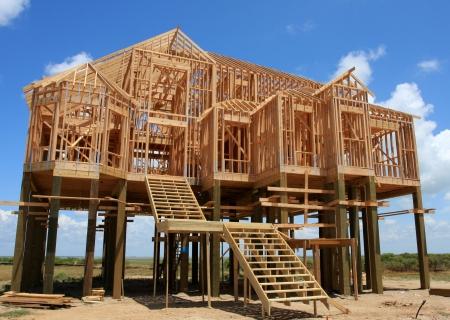 stilts: New House on Stilts under Construction