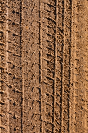 tire tread: Tire Tracks in the Mud for Transportation background