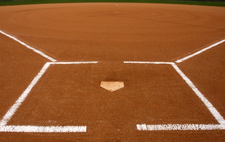 infield: Baseball Infield at Home Plate