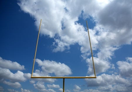 field goal: American Football Goal Posts or Uprights Stock Photo