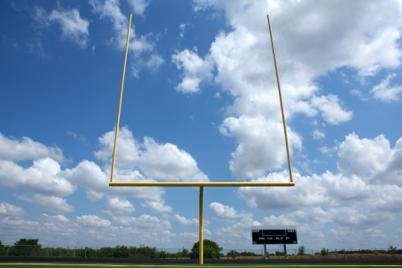 football field: American Football Goal Posts or Uprights Stock Photo