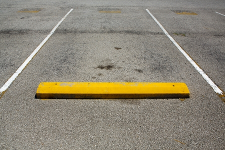 parking space: Empty Parking Space with room for copy Stock Photo