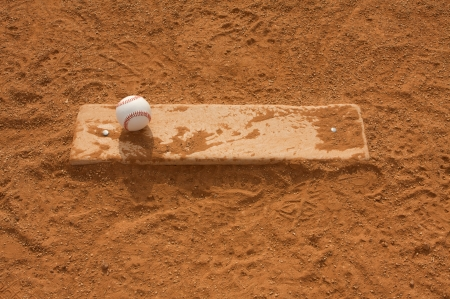 pitchers mound: Baseball on the Pitchers Mound with room for copy