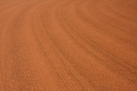 Baseball Infield Dirt Rake Lines Reklamní fotografie