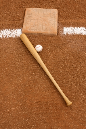 Baseball   Bat near Third Base photo