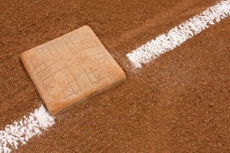 Third Base with Chalk Line photo