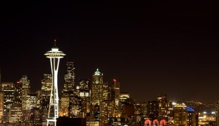 space needle: Seattle Skyline Editorial