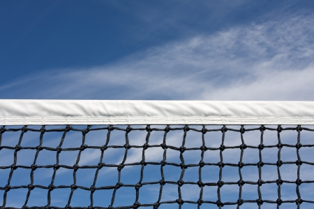 Tennis Court Net with room for copy Imagens