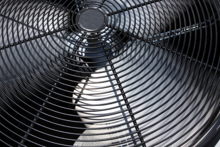 units: External Air Conditioner Unit or Fan for Industrial Background