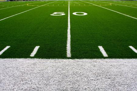 Vijftig Yard lijn van een voetbalveld