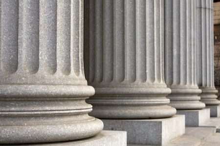 Architectural columns of the New York Supreme Court Building Stock Photo